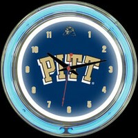 "Pittsburgh 14"" DOUBLE Neon Clock – Guaranteed bright and brilliant neon color! Quality neon clocks and neon wall clocks for less. Full 1-5 year no hassle warranty."