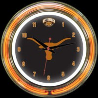 "Texas 14"" DOUBLE Neon Clock – Guaranteed bright and brilliant neon color! Quality neon clocks and neon wall clocks for less. Full 1-5 year no hassle warranty."
