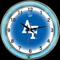 "Air Force 18"" DOUBLE Neon Clock – Guaranteed bright and brilliant neon color! Quality neon clocks and neon wall clocks for less. Full 1-5 year no hassle warranty."