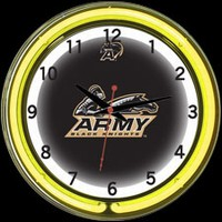 "Army 18"" DOUBLE Neon Clock – Guaranteed bright and brilliant neon color! Quality neon clocks and neon wall clocks for less. Full 1-5 year no hassle warranty."