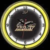 "Army DBL 18"" – Guaranteed bright and brilliant neon color! Quality neon clocks and neon wall clocks for less. Full 1-5 year no hassle warranty."