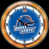 "Boise State DBL 18"" – Guaranteed bright and brilliant neon color! Quality neon clocks and neon wall clocks for less. Full 1-5 year no hassle warranty."