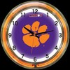 "Clemson DBL 18"" – Guaranteed bright and brilliant neon color! Quality neon clocks and neon wall clocks for less. Full 1-5 year no hassle warranty."