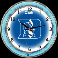 "Duke 18"" DOUBLE Neon Clock – Guaranteed bright and brilliant neon color! Quality neon clocks and neon wall clocks for less. Full 1-5 year no hassle warranty."