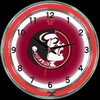 "Florida State DBL 18"" – Guaranteed bright and brilliant neon color! Quality neon clocks and neon wall clocks for less. Full 1-5 year no hassle warranty."