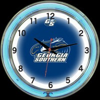 "GA Southern 18"" DOUBLE Neon Clock – Guaranteed bright and brilliant neon color! Quality neon clocks and neon wall clocks for less. Full 1-5 year no hassle warranty."