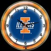 "Illinois DBL 18"" – Guaranteed bright and brilliant neon color! Quality neon clocks and neon wall clocks for less. Full 1-5 year no hassle warranty."