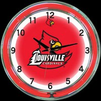 "Louisville 18"" DOUBLE Neon Clock – Guaranteed bright and brilliant neon color! Quality neon clocks and neon wall clocks for less. Full 1-5 year no hassle warranty."