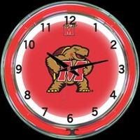 "Maryland 18"" DOUBLE Neon Clock – Guaranteed bright and brilliant neon color! Quality neon clocks and neon wall clocks for less. Full 1-5 year no hassle warranty."
