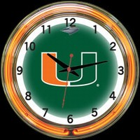 "Miami 18"" DOUBLE Neon Clock – Guaranteed bright and brilliant neon color! Quality neon clocks and neon wall clocks for less. Full 1-5 year no hassle warranty."