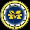 "Michigan DBL 18"" – Guaranteed bright and brilliant neon color! Quality neon clocks and neon wall clocks for less. Full 1-5 year no hassle warranty."