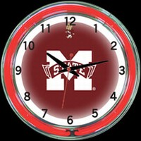"Mississippi 18"" DOUBLE Neon Clock – Guaranteed bright and brilliant neon color! Quality neon clocks and neon wall clocks for less. Full 1-5 year no hassle warranty."