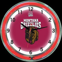 "Montana 18"" DOUBLE Neon Clock – Guaranteed bright and brilliant neon color! Quality neon clocks and neon wall clocks for less. Full 1-5 year no hassle warranty."