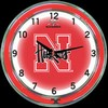 "Nebraska DBL 18"" – Guaranteed bright and brilliant neon color! Quality neon clocks and neon wall clocks for less. Full 1-5 year no hassle warranty."