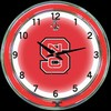 "NC State DBL 18"" – Guaranteed bright and brilliant neon color! Quality neon clocks and neon wall clocks for less. Full 1-5 year no hassle warranty."