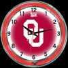 "Oklahoma DBL 18"" – Guaranteed bright and brilliant neon color! Quality neon clocks and neon wall clocks for less. Full 1-5 year no hassle warranty."