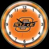 "Oklahoma State DBL 18"" – Guaranteed bright and brilliant neon color! Quality neon clocks and neon wall clocks for less. Full 1-5 year no hassle warranty."