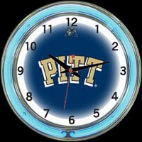 "Pittsburgh 18"" DOUBLE Neon Clock – Guaranteed bright and brilliant neon color! Quality neon clocks and neon wall clocks for less. Full 1-5 year no hassle warranty."