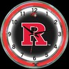 "Rutgers DBL 18"" – Guaranteed bright and brilliant neon color! Quality neon clocks and neon wall clocks for less. Full 1-5 year no hassle warranty."