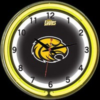 "Southern Miss 18"" DOUBLE Neon Clock – Guaranteed bright and brilliant neon color! Quality neon clocks and neon wall clocks for less. Full 1-5 year no hassle warranty."