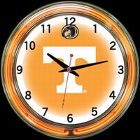 "Tennessee 18"" DOUBLE Neon Clock – Guaranteed bright and brilliant neon color! Quality neon clocks and neon wall clocks for less. Full 1-5 year no hassle warranty."