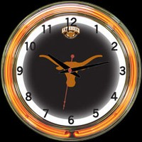 "Texas 18"" DOUBLE Neon Clock – Guaranteed bright and brilliant neon color! Quality neon clocks and neon wall clocks for less. Full 1-5 year no hassle warranty."