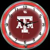 "Texas A&M DBL 18"" – Guaranteed bright and brilliant neon color! Quality neon clocks and neon wall clocks for less. Full 1-5 year no hassle warranty."
