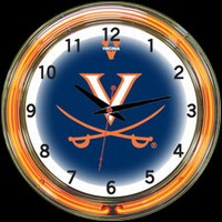 "Virginia 18"" DOUBLE Neon Clock – Guaranteed bright and brilliant neon color! Quality neon clocks and neon wall clocks for less. Full 1-5 year no hassle warranty."
