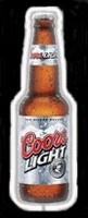 Coors Light Bottle Neon Beer Sign