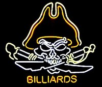 Billiards Pirate Neon Sign