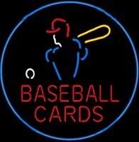 Baseball Cards Neon Sign – Guaranteed bright and brilliant neon business signs! Our neon business signs feature quality ½ diameter neon glass tubing and whisper quiet UL listed neon business sign transformer. Full 1-5 year no hassle warranty.