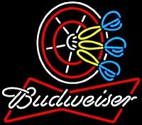 Budweiser Dart Board Neon Beer Sign
