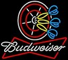 Budweiser Dart Board � Guaranteed bright and brilliant neon bar signs! Our neon bar signs feature quality ½ diameter neon glass tubing and whisper quiet UL listed neon bar sign transformer. Full 1-5 year no hassle warranty.