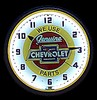 "Chevy Parts 20"" – Guaranteed bright and brilliant neon color! Quality Americana neon wall clocks for less. Full 1-5 year no hassle warranty."