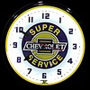 "Chevy Service 20"" – Guaranteed bright and brilliant neon color! Quality Americana neon wall clocks for less. Full 1-5 year no hassle warranty."
