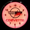 "Corvette Checkered 20"" – Guaranteed bright and brilliant neon color! Quality Americana neon wall clocks for less. Full 1-5 year no hassle warranty."