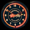 "Corvette Black 20"" – Guaranteed bright and brilliant neon color! Quality Americana neon wall clocks for less. Full 1-5 year no hassle warranty."