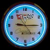 "Corvette Stingray 20"" – Guaranteed bright and brilliant neon color! Quality Americana neon wall clocks for less. Full 1-5 year no hassle warranty."