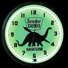 "Dino Sinclair 20"" – Guaranteed bright and brilliant neon color! Quality Americana neon wall clocks for less. Full 1-5 year no hassle warranty."