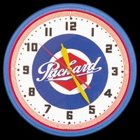 "Packard Service Neon Clock 20"" – Guaranteed bright and brilliant neon color! Quality neon clocks and neon wall clocks for less. Full 1-5 year no hassle warranty."