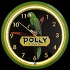 "Polly Gas 20"" – Guaranteed bright and brilliant neon color! Quality Americana neon wall clocks for less. Full 1-5 year no hassle warranty."