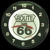 "Route 66  20"" – Guaranteed bright and brilliant neon color! Quality Americana neon wall clocks for less. Full 1-5 year no hassle warranty."