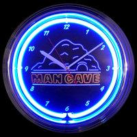 "Man Cave Neon Clock 15"" – Guaranteed bright and brilliant neon color! Quality neon clocks and neon wall clocks for less. Full 1-5 year no hassle warranty."