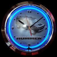 "Hummer Neon Clock 15"" – Guaranteed bright and brilliant neon color! Quality neon clocks and neon wall clocks for less. Full 1-5 year no hassle warranty."