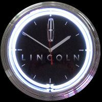 "Lincoln Neon Clock 15"" – Guaranteed bright and brilliant neon color! Quality neon clocks and neon wall clocks for less. Full 1-5 year no hassle warranty."