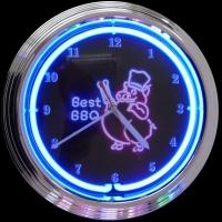 "BBQ Pig Neon Clock 15"" – Guaranteed bright and brilliant neon color! Quality neon clocks and neon wall clocks for less. Full 1-5 year no hassle warranty."