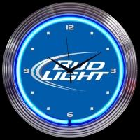"Bud Light Neon Clock 14.5"" – Guaranteed bright and brilliant neon color! Quality neon clocks and neon wall clocks for less. Full 1-5 year no hassle warranty."