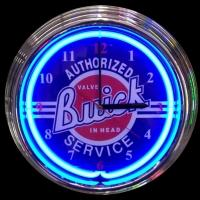 "Buick Service Neon Clock 14.5"" – Guaranteed bright and brilliant neon color! Quality neon clocks and neon wall clocks for less. Full 1-5 year no hassle warranty."