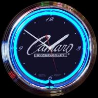 "Camaro Neon Clock 14.5"" – Guaranteed bright and brilliant neon color! Quality neon clocks and neon wall clocks for less. Full 1-5 year no hassle warranty."