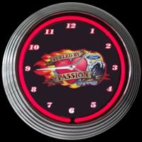 "Ford Fueled Neon Clock 15"" – Guaranteed bright and brilliant neon color! Quality Americana neon wall clocks for less. Full 1-5 year no hassle warranty."